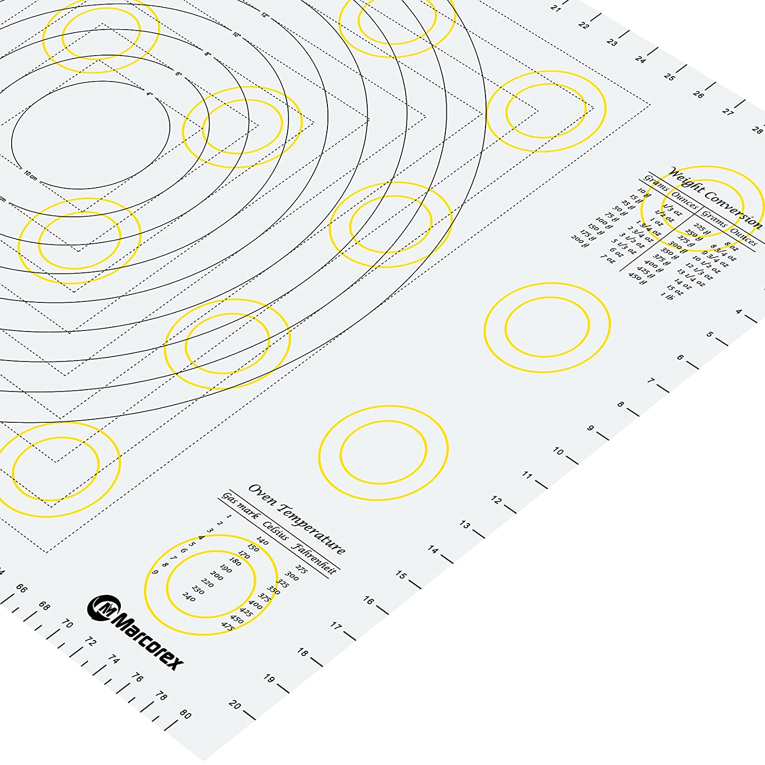 Amazon pastry mat xx large 34 x 23 with measurements and amazon pastry mat xx large 34 x 23 with measurements and conversion charts professional size non stick non slip extra large silicone fondant mat nvjuhfo Gallery