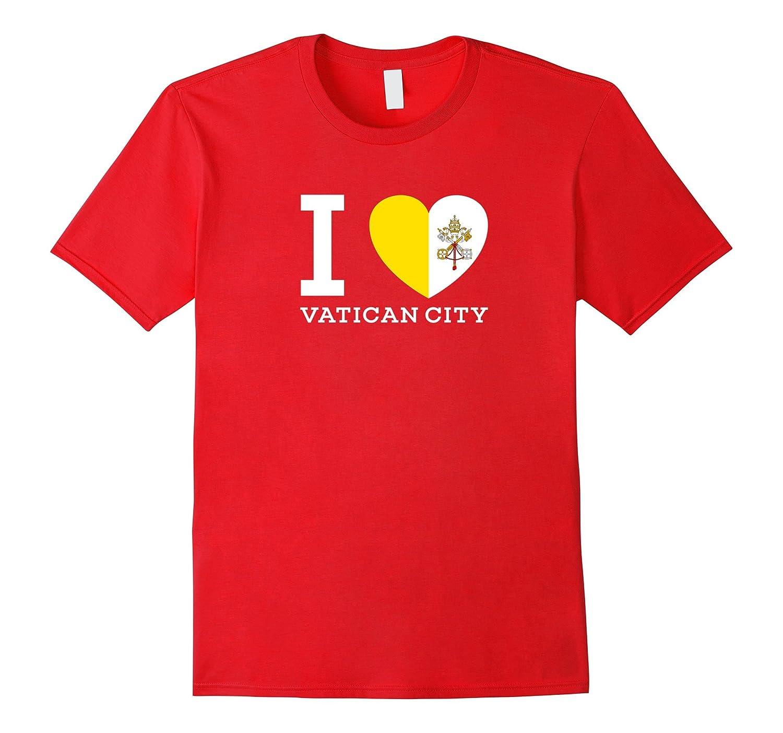 I Love Vatican City Flag Heart special T Shirt-CD