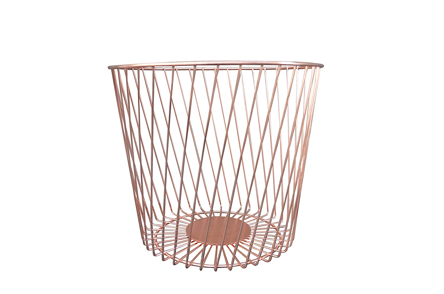 Candlelight Wire Bin Diagonal Lines Rose Gold 555888