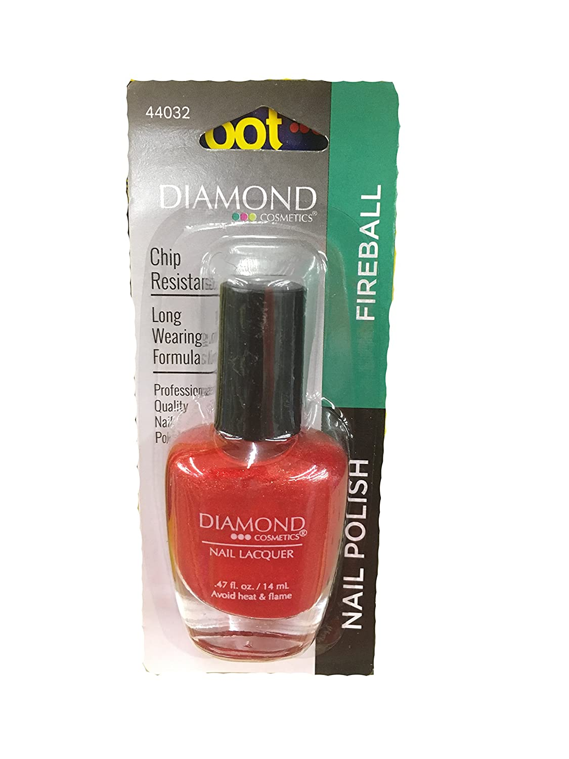 Amazon.com: Diamond Cosmetics Nail Lacquer Fireball: Health ...