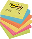 Post-it Energy 654-TFEN - Notas autoadhesivas (76 x 76 mm, 6 blocs, 100 hojas por bloc), varios colores