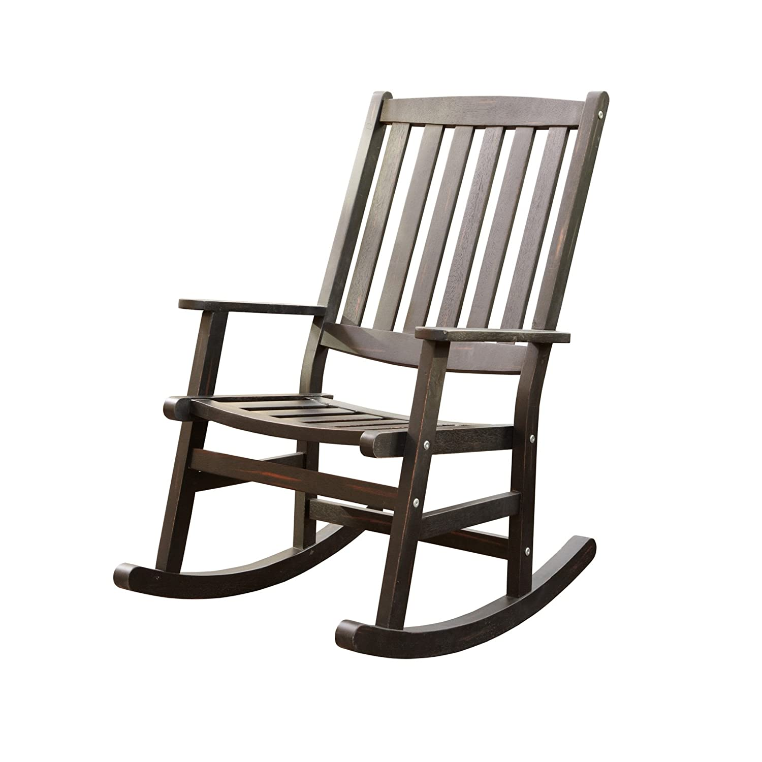Home Styles Bali Hai Outdoor Rocking Chair, Black