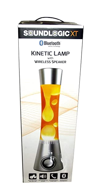 Sound Logic XT Kinetic Lamp With Wireless Speaker (Orange)