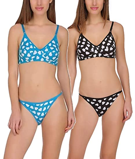 c6d79cd7e23b9 FIMS® Women s Girls Cotton Bikini Set for women