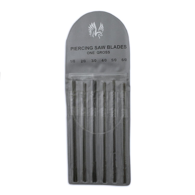 Jewellers Tools 1/0,2/0,3/0,4/0,5/0,6/0 Jewellers Saw Blades Pack 144 Various Piercing Blades Alfindings Ltd