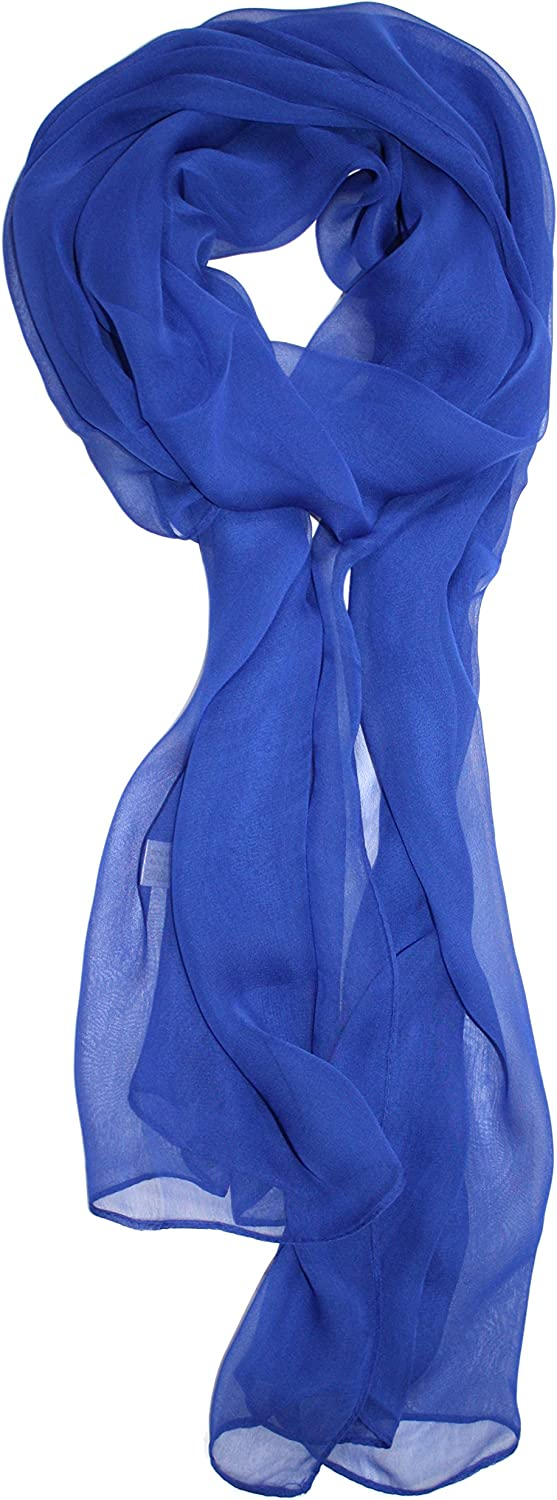 Ted & Jack - Solid Color Silk Blend Lightweight Accent Scarf