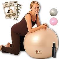 NBF Ballon d'accouchement, Ballon de gymnastique pour la grossesse avec Guide d'instructions. 55cm, 65cm, 75cm