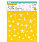 "Darice 6 by 6"" Self Adhesive Stencil, Star Lite"