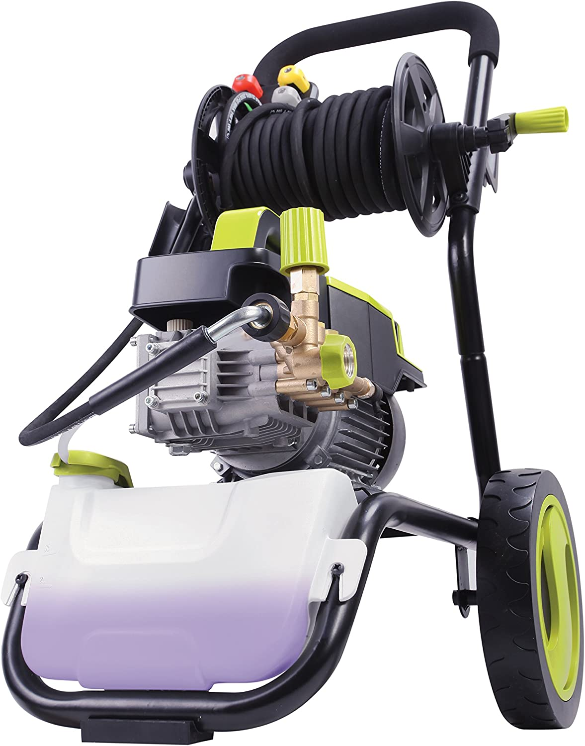 Sun Joe SPX9006-PRO 2.15 HP 1300 PSI 2 GPM Commercial Pressure Washer with Roll Cage and Hose Reel