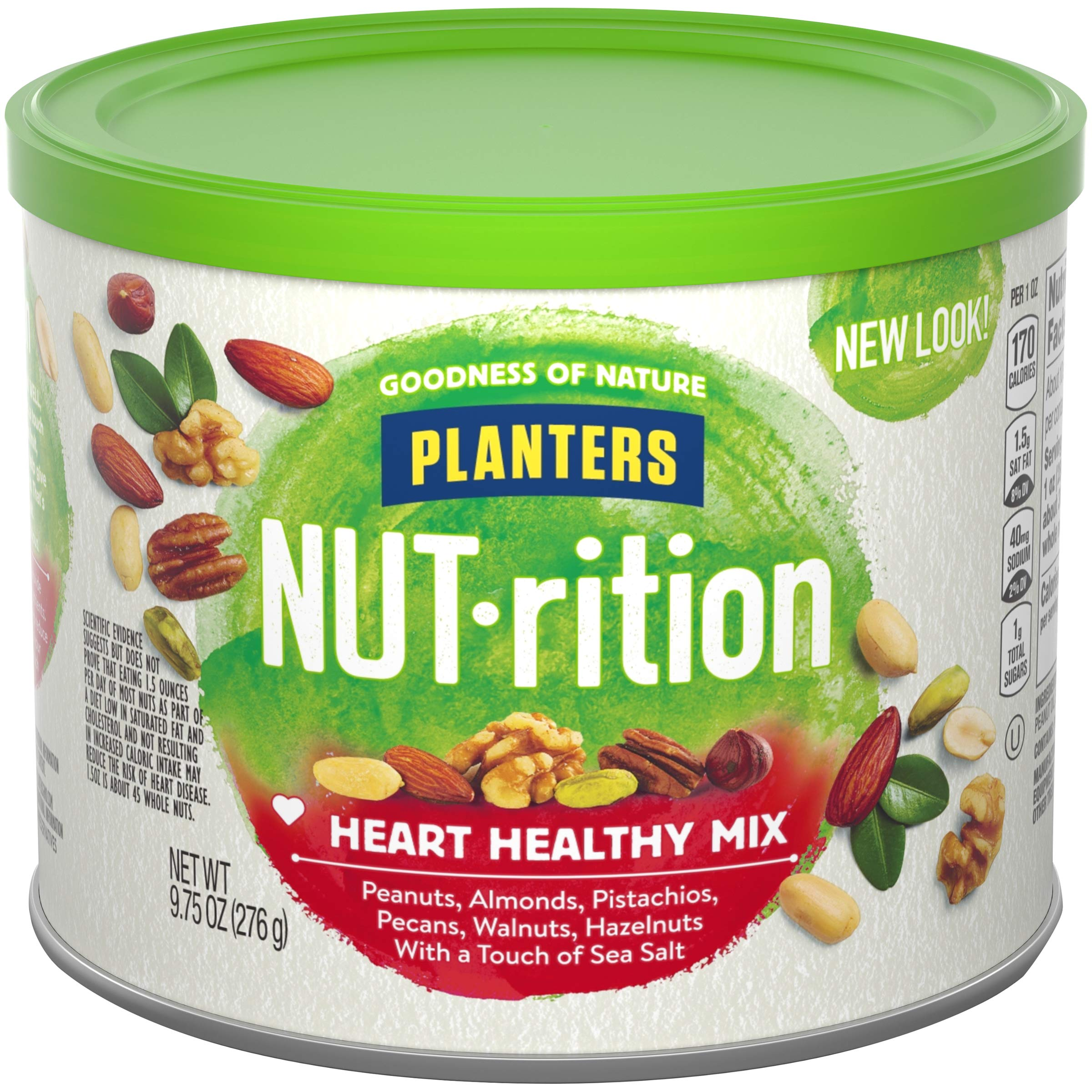 NUTrition Heart Healthy Snack Nut Mix (9.75oz, Pack of 3) by Planters (Image #1)