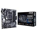 Asus Prime B350M-A Mainboard Sockel AM4 (uATX, AMD B350, Ryzen, 4x DDR4 Speicher, 4x SATA 6Gb/s, LED)