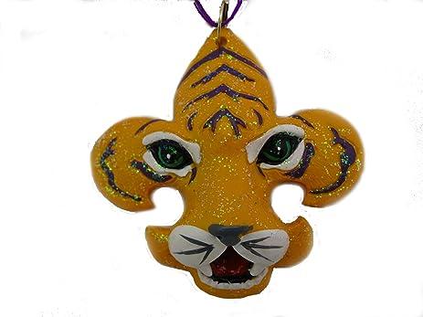 amazon com tigers christmas ornament purple and gold fleur de lis