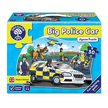 Orchard Toys Big Police Car Floor Puzzle Amazon Co Uk Toys Games