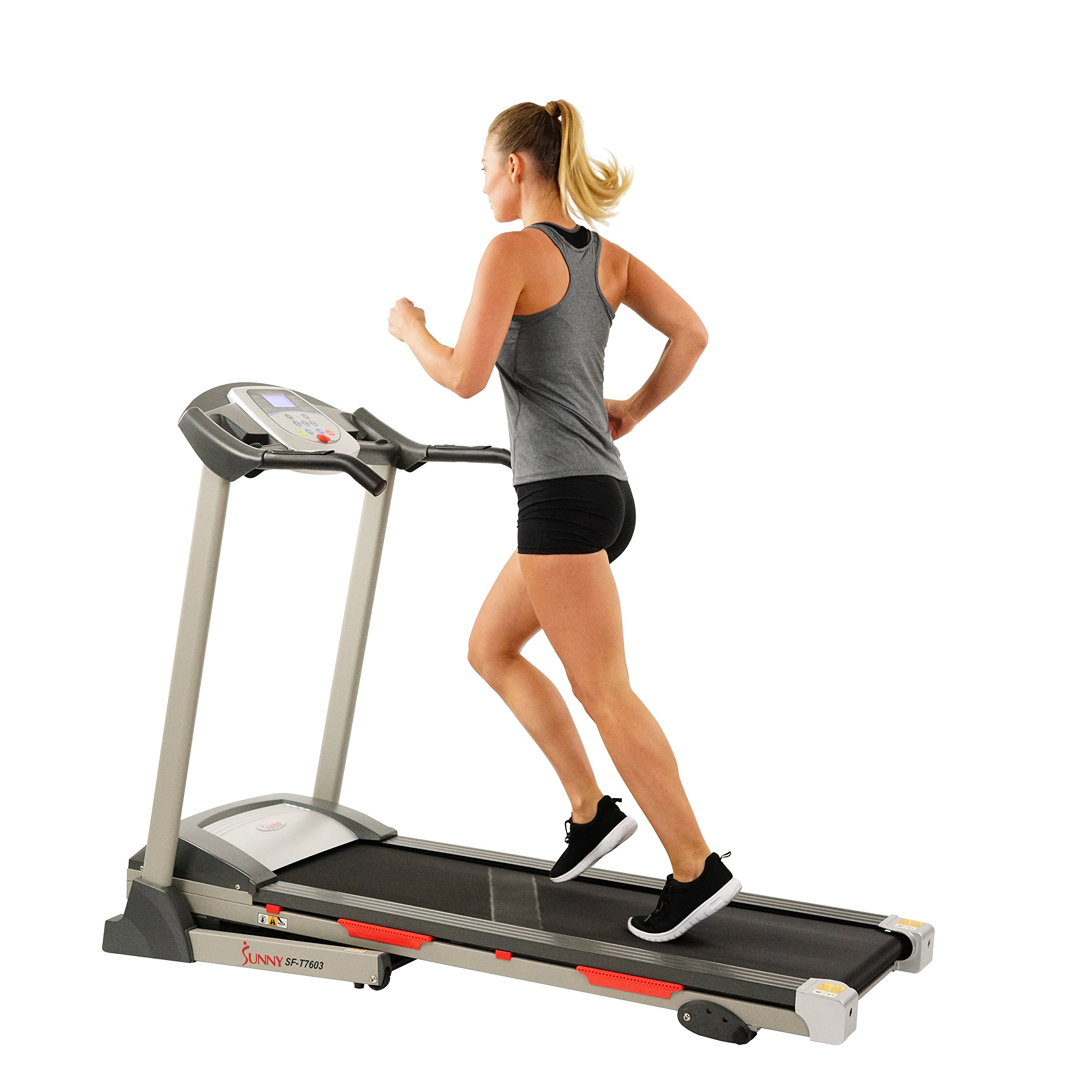 Sunny Health & Fitness Exercise Treadmills, Motorized Running Machine for Home with Folding, Easy Assembly, Sturdy, Portable and Space Saving - SF-T7603 by Sunny Health & Fitness