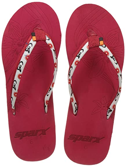 10bfc00209f398 Sparx Women s Red Flip-Flops and House Slippers - 8 UK (SF0502L ...