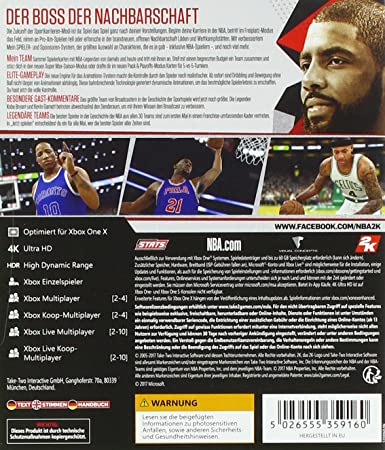 Take-Two Interactive NBA 2K18 DayOne Edition Xbox One Alemán vídeo ...