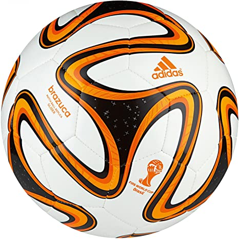 Adidas Brazuca Glider - Balón de fútbol (talla 4), color blanco y ...