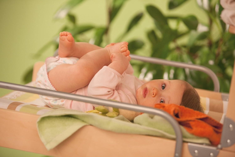 Roba Fasciatoio da Parete Fasciatoio Richiudibile Legno Naturale con Materassino in Pvc Fantasia jungle Babies