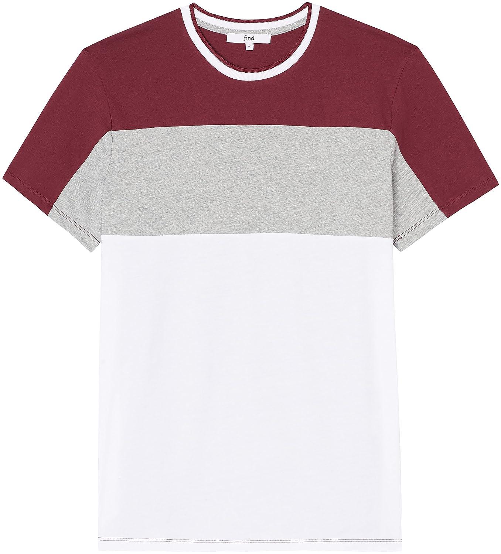 FIND T-shirt con Effetto Colour-block Uomo