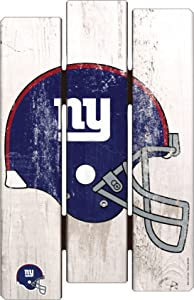 """NFL New York Giants Wood Fence Sign, 11"""" x 17"""""""