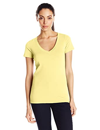 78b5ae0f42a6 Clementine Apparel Women's Casual T Shirt Comfy Short Sleeve Pull Over  Basic V Neck Top Tee (6640)