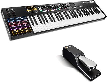 M-Audio CODE 61 + SP-2 - Teclado controlador MIDI USB con 61 ...