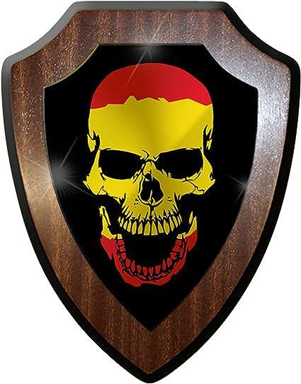 Escudo Cartel/pared Cartel – España Calavera Cráneo Cabeza Español Bandera de # 9670: Amazon.es: Hogar