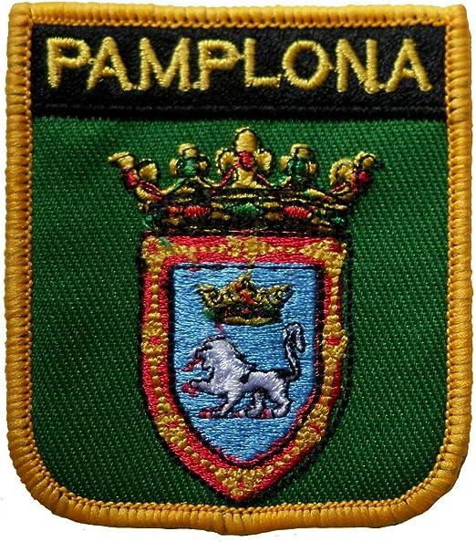 1000 Banderas Pamplona España Escudo Bordado Parche Insignia: Amazon.es: Hogar