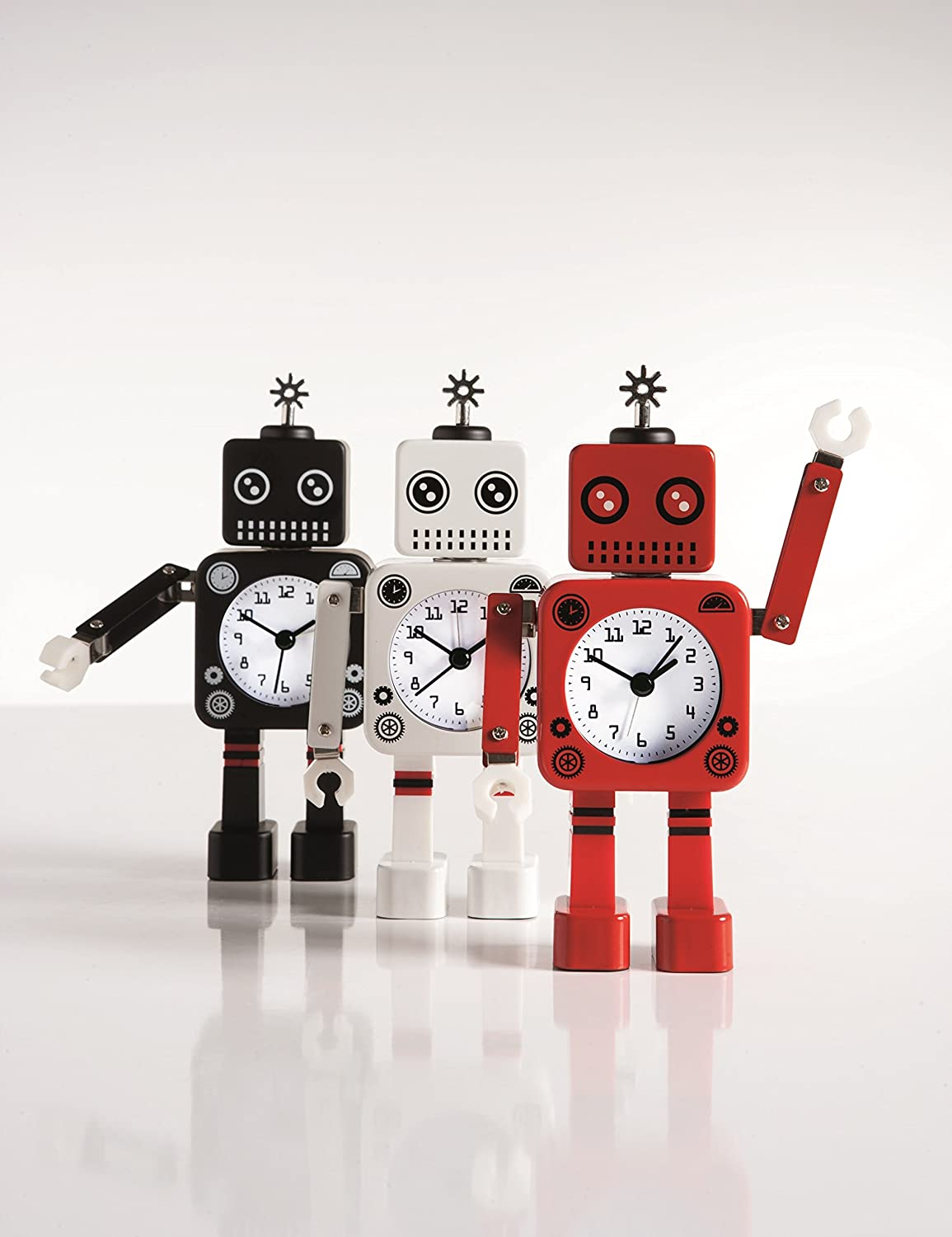 Amazon.com: Torre \u0026 Tagus 901939A Robot Alarm Clock, White: Home ...