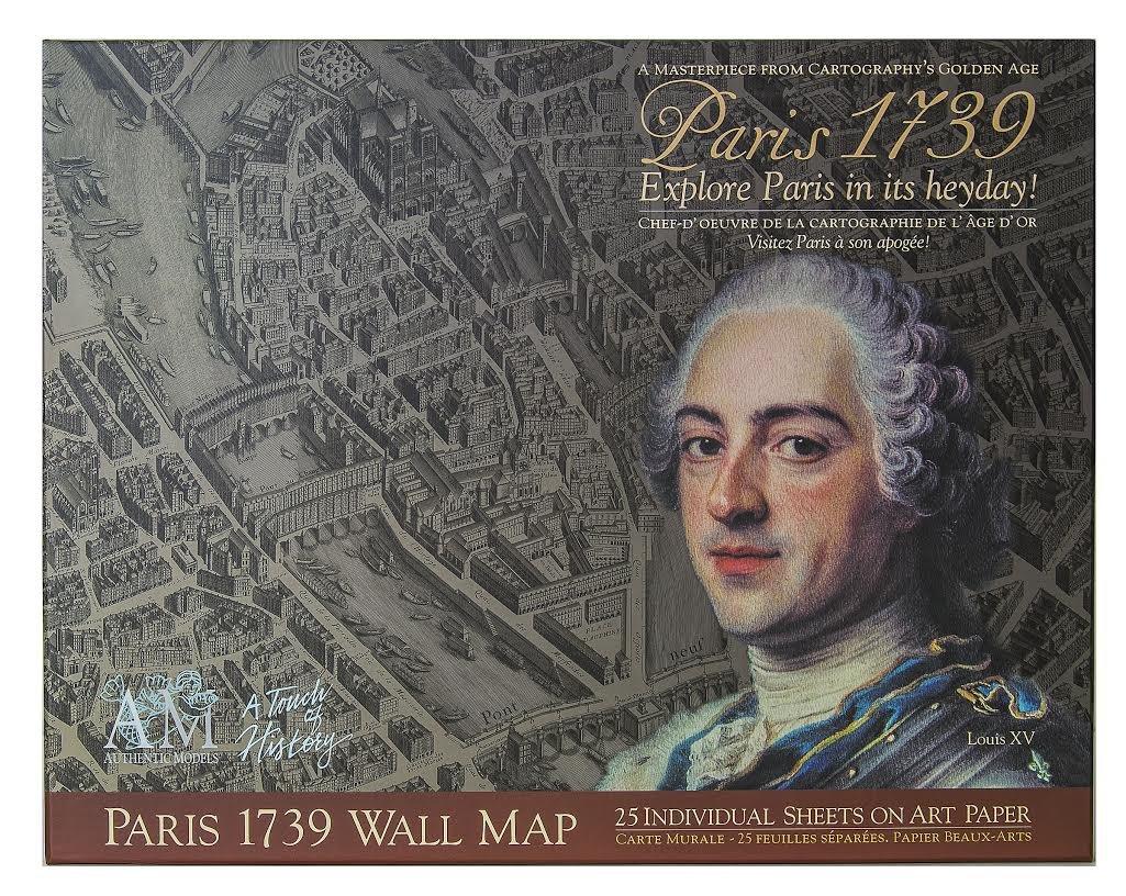 Amazon.com: Authentic Models 1739 Paris Map Portfolio: Prints: Posters &  Prints
