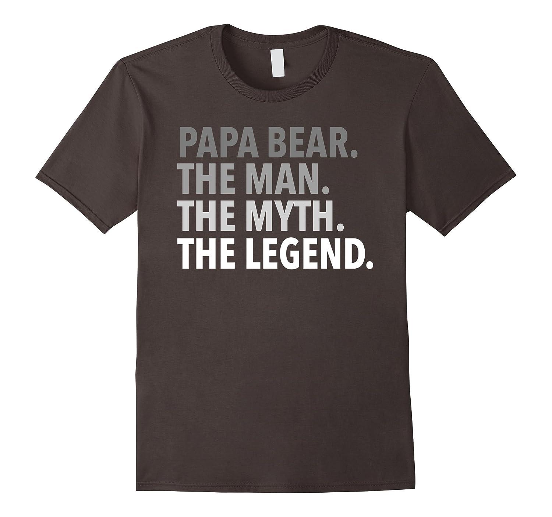 Mens Papa Bear - The Man The Myth The Legend T Shirt Dad Grandpa-TH