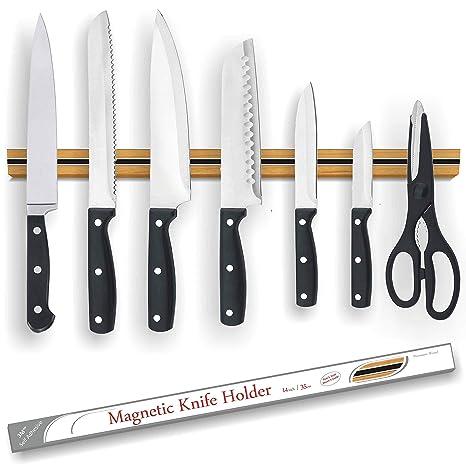 Amazon.com: MW franja de cuchillo magnético | Premium Madera ...
