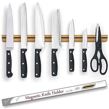 MW soporte magnético para cuchillos | madera de roble ...