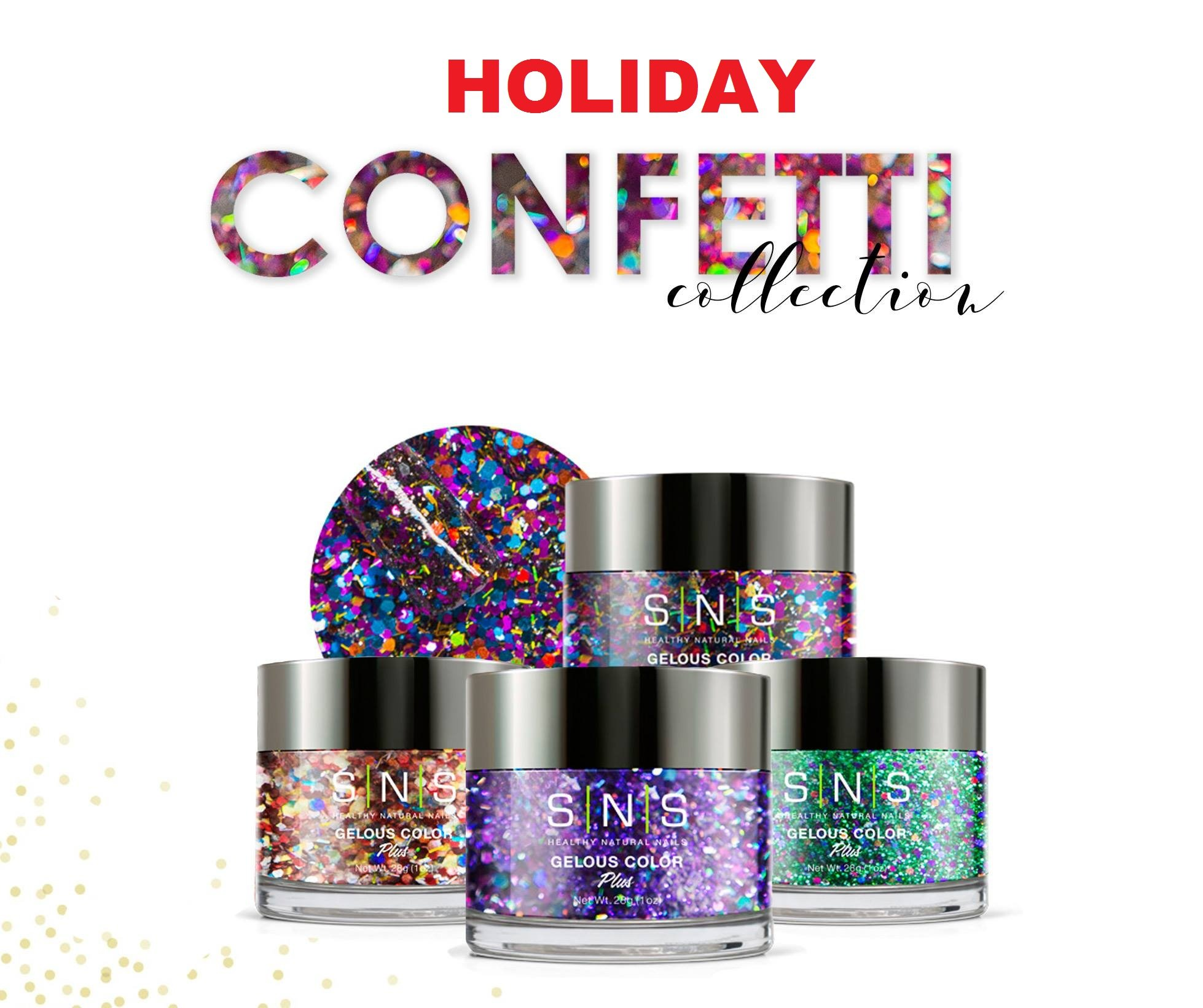 SNS Nail Dipping Powder Gelous Color Kits - Holiday Collection 1 - FREE Mina Dip Gel Base, Gel Top and Activator by SNS (Image #1)