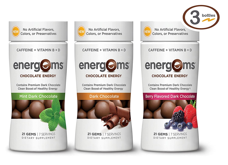 Amazon.com: Energems Energy Boost Gems, 1 Bottle (21 Gems), Mint ...