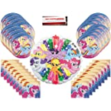 My Little Pony Birthday Party Supplies Bundle Pack for 16 with Large 17 Balloon Plus Party Planning Checklist by Mikes Super Store