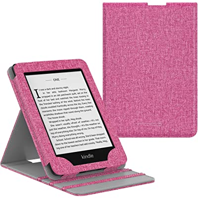 MoKo Kindle Paperwhite E-Reader Funda, Prima Voltear verticalmente Cubierta Smart Cover Case para KAmazon Kindle Paperwhite (10th Generación, 2018 Release) - Magenta