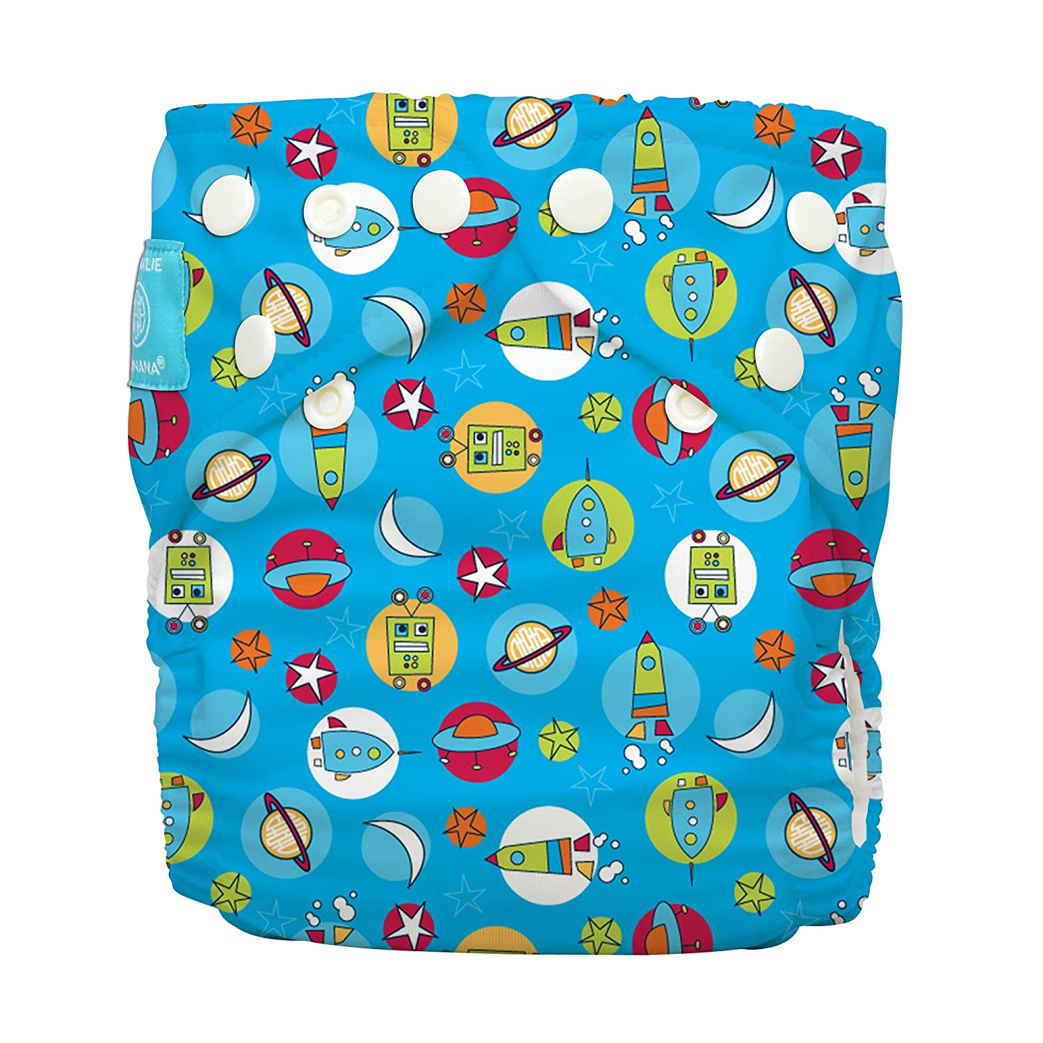 Charlie Banana Diaper and 2 Inserts Grab Pack, Orbit, One Size