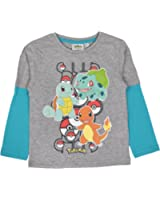 544df21ced7 Boys Pokemon Long Sleeve Top 100% Cotton T Shirt Beach Summer Shirt Kids  Size UK