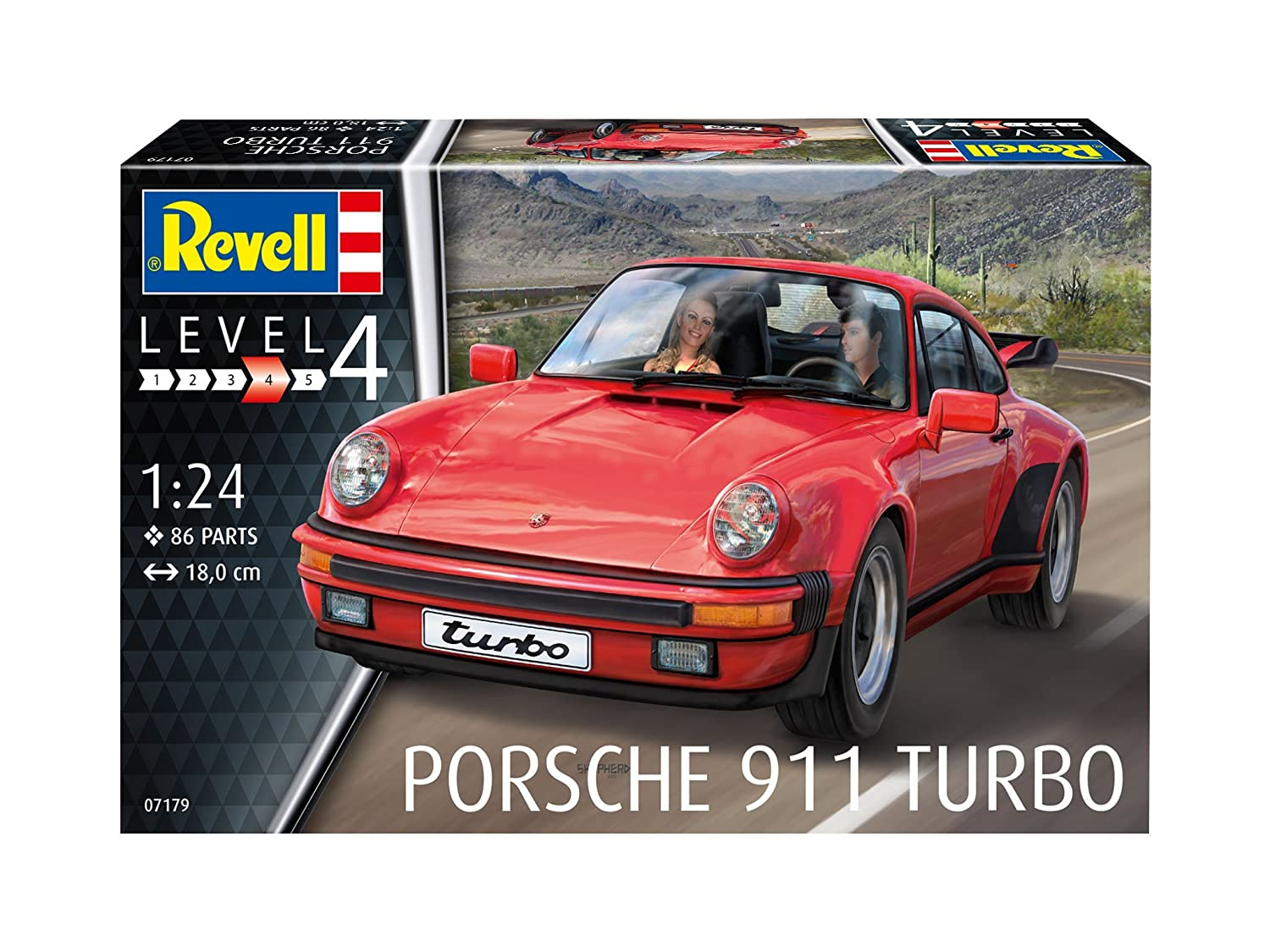Revell Maqueta Porsche 911 Turbo, Kit Modelo, Escala 1:24 (07179), Color Rojo, 18,0 cm de Largo: Amazon.es: Juguetes y juegos