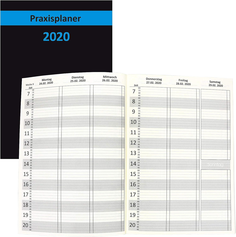 Praxiskalender Terminkalender A4 Tageskalender 2021 viertelst/ündige Einteilung
