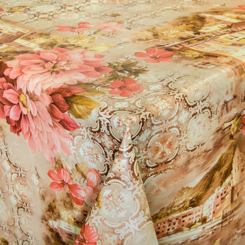 Hule mesa mantel de hule lavable Venecia Beige Longitud a Elegir ...
