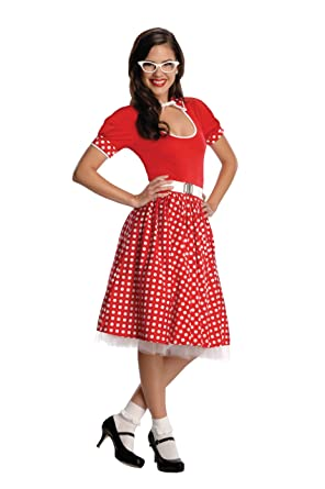 3b2a3be24a6d Amazon.com: Rubies Secret Wishes 50s Nerd Girl Costume: Clothing