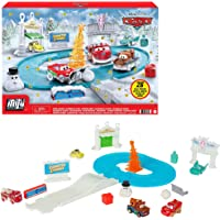 Disney and Pixar's Cars Minis Advent Calendar Playset, One a Day Storytelling Racecar Accessories & Surprises, for Kids…