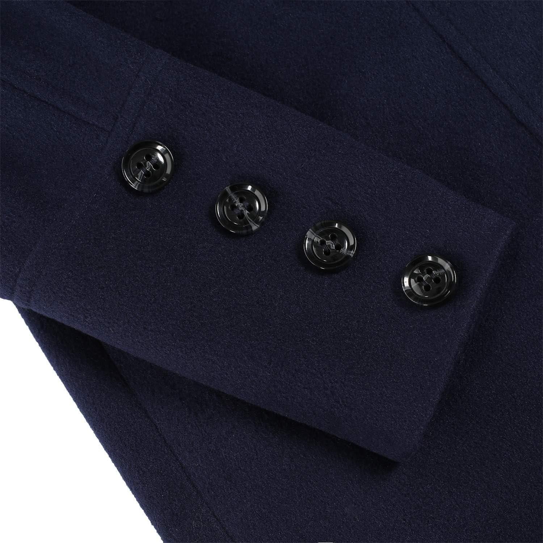ODlover Wool Overcoat Wool Overcoat Women Womens Long Overcoat Wool /& Blends