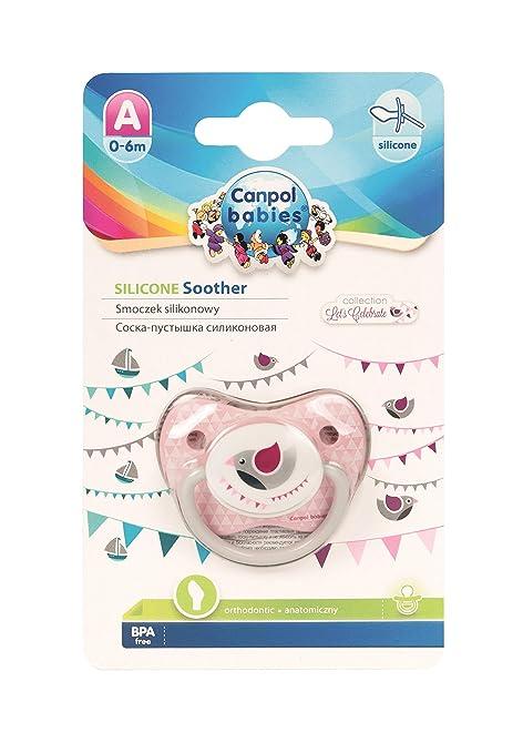 Canpol babies - Chupete de silicona con forma de pino rosa ...