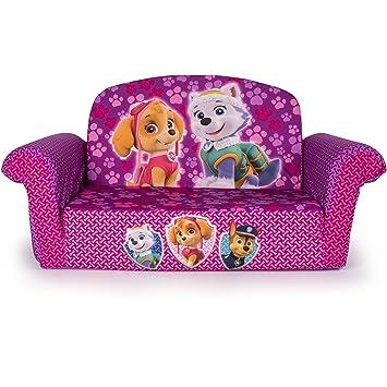 Amazon Com Marshmallow 2 In 1 Flip Open Sofa Paw Patrol Pink