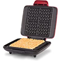 Dash DNMWM455RD NO- DRIP waffle maker, 1200 Watt, Red
