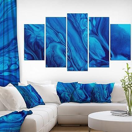 Amazon Com Dark Blue Abstract Acrylic Paint Mix Abstract