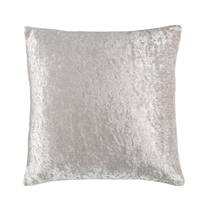 Grey//Silver  18inch Crushed Velvet CUSHION COVER filling Not Included